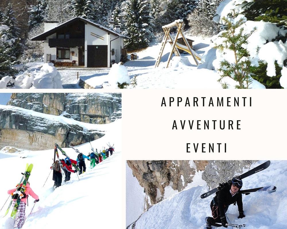 Attività in montagna sulle Dolomiti